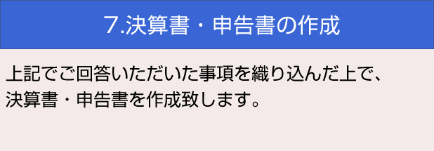 7.決算書・申告書の作成